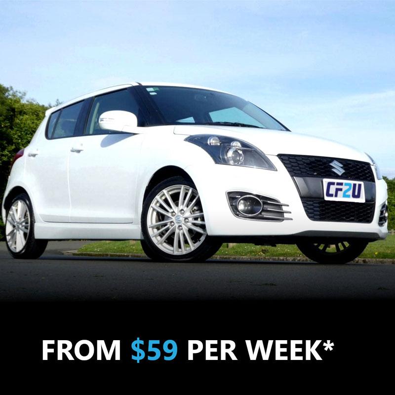 Suzuki Swift best car finance nz CarFinance2U